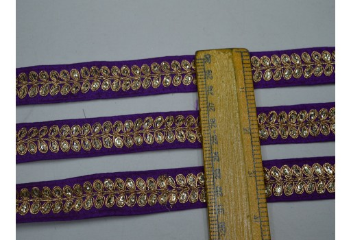 1 inch purple thread work designer trims by 2 yard on silk fabric christmas supplies home decor wholesale embellishments decorative crafting ribbon fashion tape trimmings for skirts