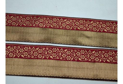2.2 inch gold jacquard designer trims by 3 yard on silk fabric christmas supplies home decor woven embellishments decorative fashion tape crafting ribbon