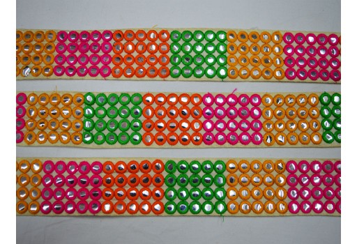 2 inch fancy wholesale green and orange embroidery trim by 2 yard decorative embellishments sewing crafting ribbon christmas supplies home decor costume laces for tunics