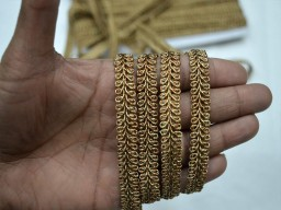 Copper crafting sewing home decorative ribbon gimp laces by 4 yard metallic jari cord sari border lehenga dresses accessories embellished costume designer fashion blogger traditional boutique material