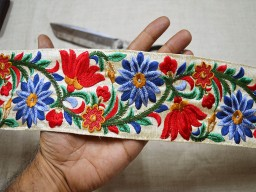 Wholesale red decorative sewing indian saree trim by 9 yard crafting sari border silk fabric embroidered home décor and costume trimmings fashion table runner ribbon