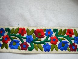 2.3 inches wide Wholesale Embroidered Trim Fabric trims and Embellishments Decorative Trims Small Flowers Multicolor Trimming Costume ribbon Trim By 9 Yard