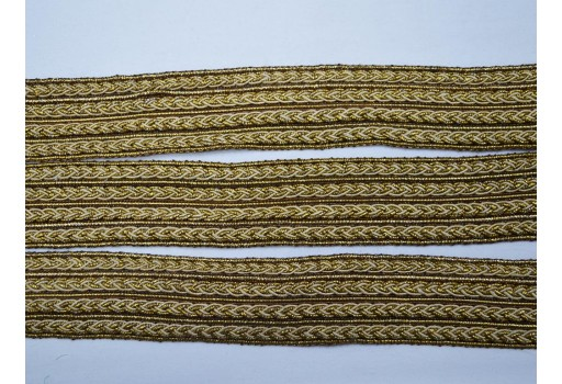 Dress making trims gold beige braided edging crafting decorative ribbon indian laces by 2 yard gimp cord lace curtains sewing upholstery embellishments trims