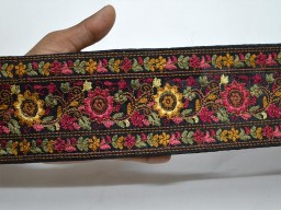 Embellish your summer dresses with our embroidery laces  yellow indian decorative crafting ribbon embroidered sewing fabric trim by the yard sari border accessories beach bags and hats trimmings