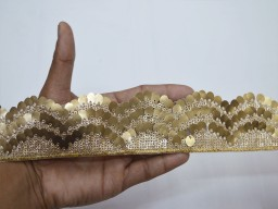 Sequins work trims fashion blogger indian dull gold sequins trim by the yard fashion tape dresses trimming embroidered sari border crafting sewing wedding costume tape ribbon
