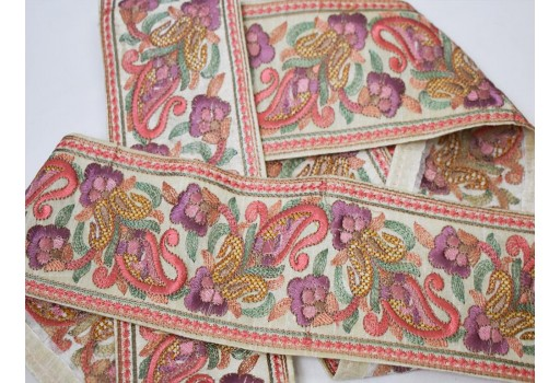 Indian sari border crafting sewing wedding costume tape décor wear ribbon Peach decorated lace wholesale embroidered gold sequins trim by 9 yard fashion decorative dress trimming