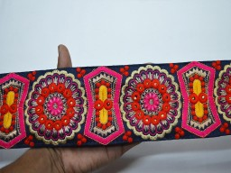 Wholesale garments accessories magenta border Christmas supplies table runner ribbon wedding wear dress design..