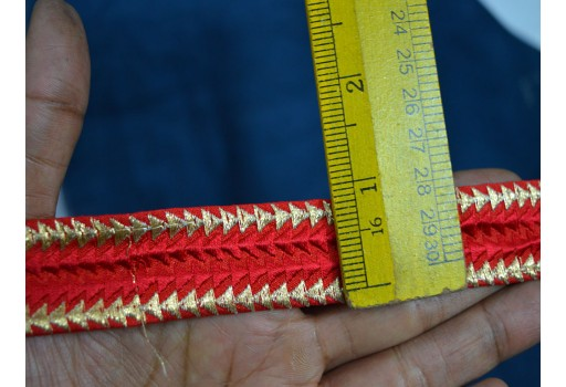 Wholesale indian trims decorative border embroidered trim sari border trimmings silk fabric designer sewing trim fashion laces by 9 yard