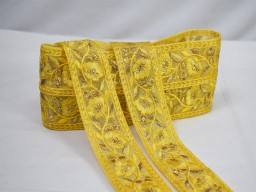 9 yard wholesale yellow decorative sequins laces sari borders net fabric embroidered craft ribbon embellishment bags trimmings sewing costume border garments accessories