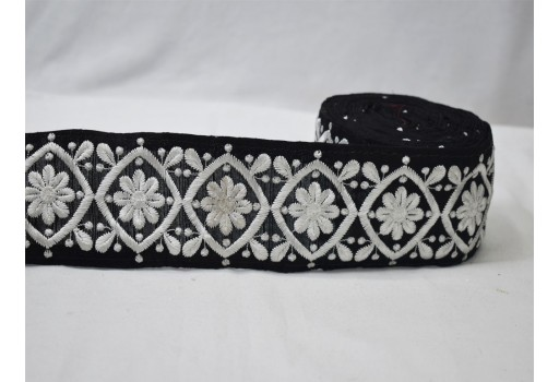 Black dresses border by the yard braided trim Indian wedding embroidery decorative costume tape crafting sewing supply ribbon embellishments lace cushion cover trimmings