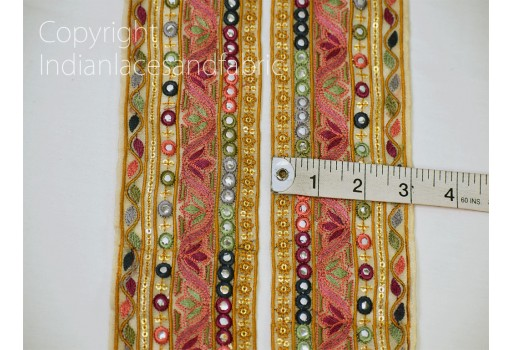 9 Yard beige Floral Embroidered Border crafting clutches ribbon table runner decoration laces headband embroidered tape sewing accessory cushions trimmings home decorative trim