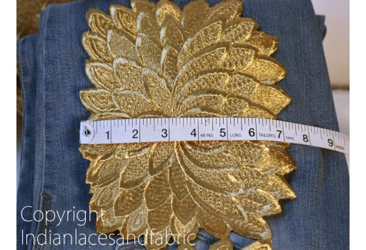Gold Indian sari crafting sewing accessories cushion cover lace dresses border saree fabric trim by the yard embroidered wear trimming wedding dress lehenga ribbon
