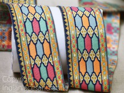 2 yard thread brocade trims saree decorative kurti border wedding gown tape décor dupattas lace embellishment jacquard sewing ribbon crafting dresses clothing accessories