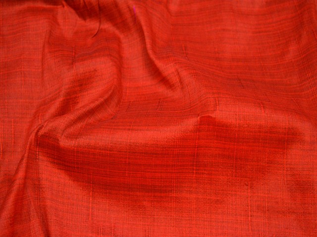 Iridescent Crafting Indian Poly Dupion Fabric Dupioni Fabric by the Yard Wedding Bridesmaid Black and Red Dresses Sewing Costumes Cushion Covers Drapes Fabric