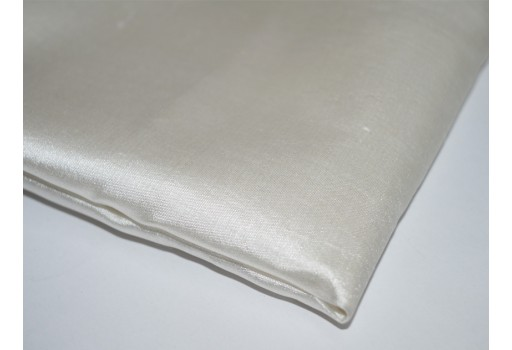 White Sheer Pure Silk Fabric Silk Fabric