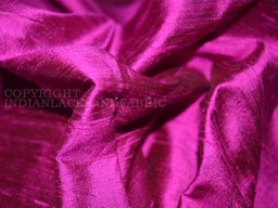 Hot pink with black pure dupioni silk fabric indian raw silk fabric by the yard dupion dresses sewing pillows ..