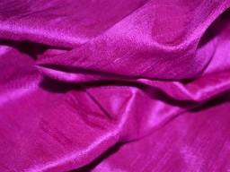 Bright Magenta Pink Pure Dupioni Silk fabric