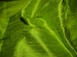 Spring Green Pure Dupioni Silk fabric yardage Indian silk