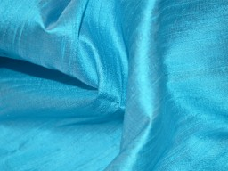 "Light Turquoise Blue dupioni silk fabric yardage By the Yard 44"" wide, Indian dupioni silk or raw silk fabric"