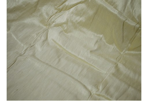 Indian dupioni silk fabric in Ivory dupion silk