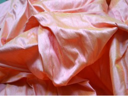 Iridescent dupioni silk fabric by Yard Peach Gold dupion silk fabric for wedding bridesmaid prom dresses indian raw silk indian dupioni silk