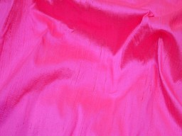 Neon pink indian pure dupioni silk raw silk fabric by the yard crafting sewing wedding dresses skirts vest coats silk pillow cover curtains dupioni for western dresses