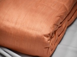 Dark peach pure dupioni fabric raw silk by the yard indian wedding dresses pillowcases drapery blouses curtains cushions costumes sewing
