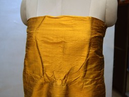 Iridescent mustard yellow indian pure dupioni raw silk fabric yardage crafting sewing wedding dresses skirt pillowcase curtain home décor party wear fabric