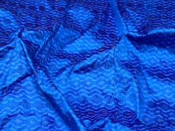 Indian handwoven blue pure dupioni ikat silk fabric by the yard wedding bridesmaid prom dresses crafting sewing cushion drapery upholstery
