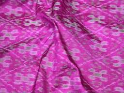Magenta pure ikat silk fabric by the yard bridesmaid handwoven crafting sewing table runner home décor cushion pillow covers drapery curtain christmas supplies fabric clothing accessories