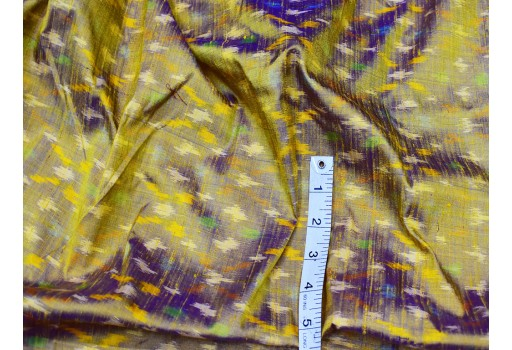 Iridescent indian handwoven pure dupioni ikat silk fabric by the yard wedding bridesmaid dresses crafting sewing cushion drapery upholstery