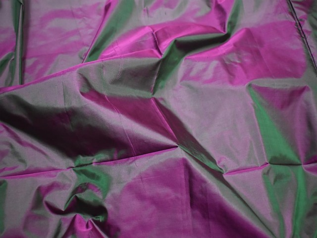 60 gsm iridescent indian pure silk fabric by the yard light weight soft silk curtains scarf costume apparel wedding evening dresses dolls
