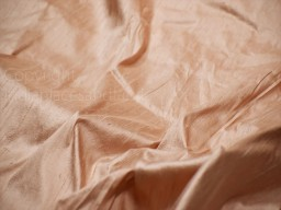 Light peach pure dupioni fabric raw silk by the yard indian wedding dresses pillowcases drapery blouses curtains cushions costumes sewing kurtis making dupioni