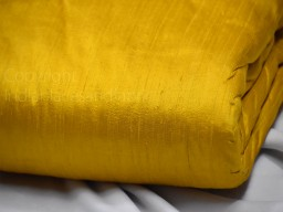 Yellow pure dupioni fabric raw silk by the yard indian boutique material wedding dresses pillow covers drapery curtain cushions costume sewing waist coat dupioni for lehengas