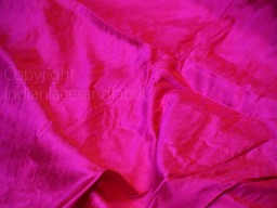 Iridescent fuchsia orange indian pure dupioni raw silk fabric by the yard sewing costumes wedding prom dress skirt coat pillow cover curtain