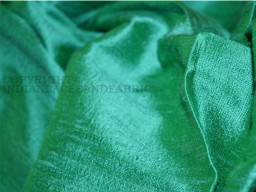 Pure Dupioni Silk raw silk fabric by yard in Sea Green