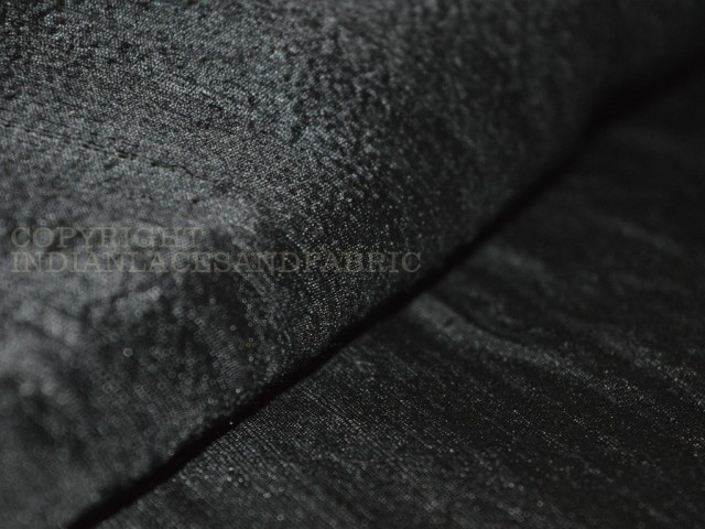 Black pure dupioni silk fabric indian raw silk fabric by the yard dupion costumes dresses pillows cushions table covers crafting wedding