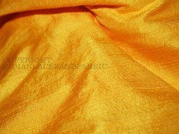 Pure Dupioni Silk fabric in Yellow raw silk fabric Indian silk fabric by Yard