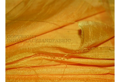 Pure Dupioni Silk fabric in Yellow  raw silk fabric