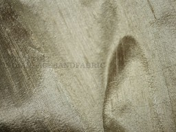 Iridescent Gold and Grey dupioni silk fabric