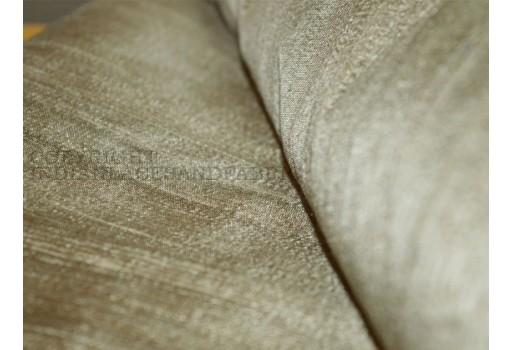 Iridescent Gold and Grey dupioni silk fabric