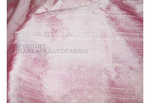 Pink Pure Dupioni Silk fabric