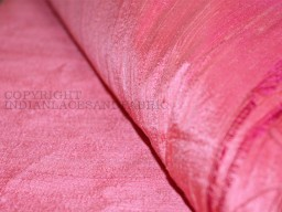 Rose dupioni silk or raw silk fabric made from pure silk yarn