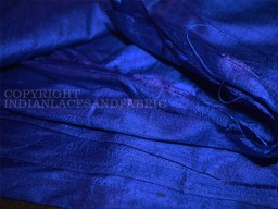 Royal Blue Pure Silk Dupioni Raw Silk Indian Silk Fabric Raw Mulberry Silk Indian Dupioni Silk by Yard