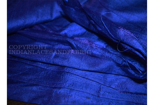 Royal blue pure dupioni fabric raw silk by the yard indian wedding dresses pillowcases drapery curtains cushion cover costume upholstery festival wear silk fabric
