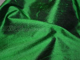 Green Iridescent Pure Dupioni Silk fabric