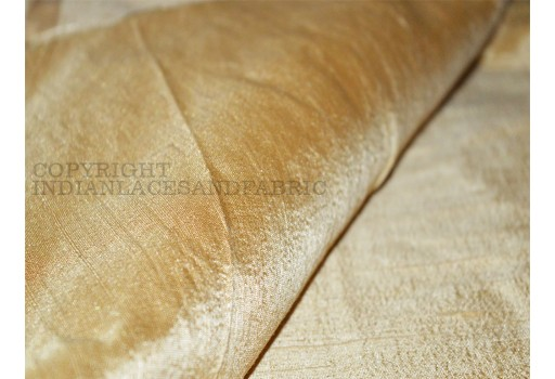Beige Pure Dupioni Silk fabric  raw silk