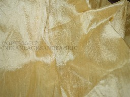 Beige Pure Dupioni Silk fabric  raw silk
