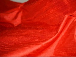 Red Dupioni Silk fabric  Indian dupioni ..