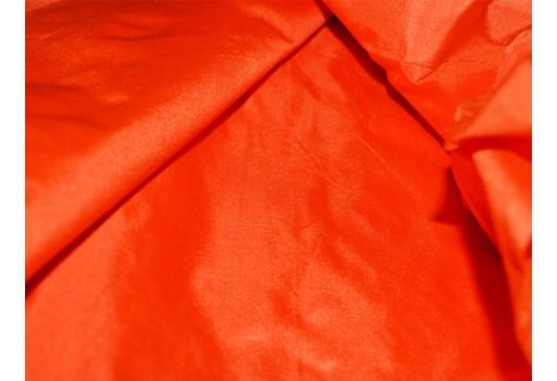 Orange Pure Silk Fabric Plain Silk Dress Costume dupion